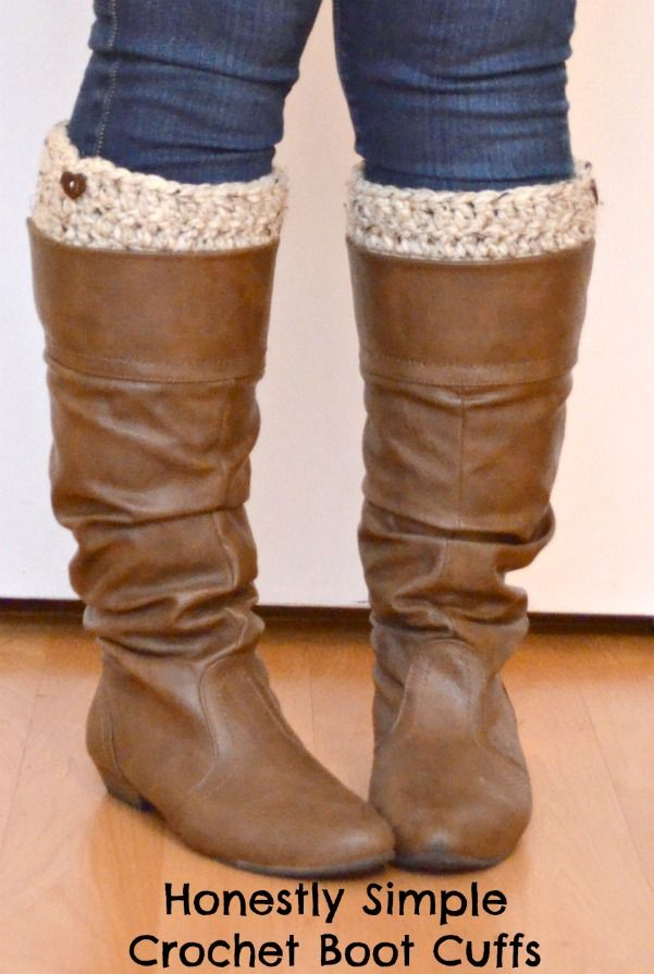 Super Easy Crochet Boot Cuffs! - One Artsy Mama
