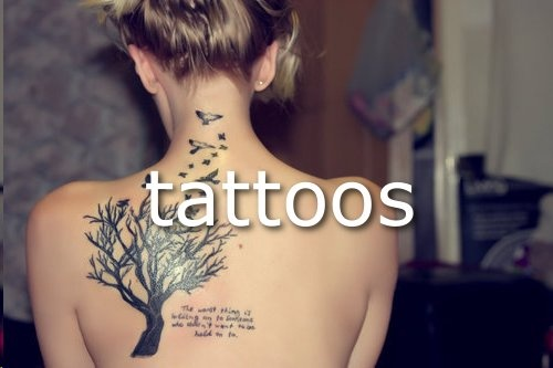 all things you love, body, girl, tattoos, tree