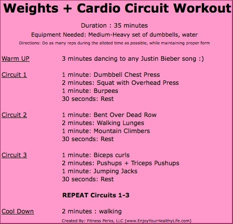 Justin Bieber weights & cardio circuit workout. I might ...