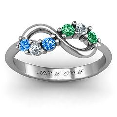 Infinity mother's ring...love this! Its even got my babies exact stones!