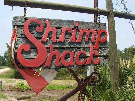Shrimp Shack ..home of the greatest and best crab cake sandwich (according to B,T and S), on the road to Fripp Island