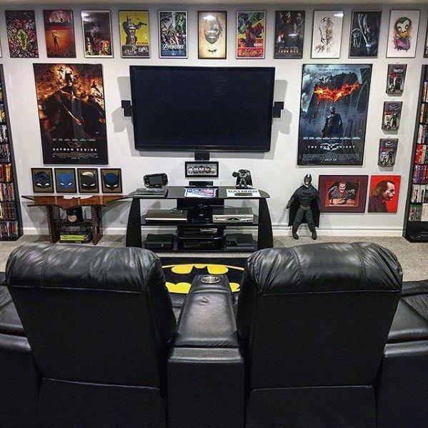 Gaming Man Cave Imgur Batmanthemedgamingmancaveformen Am Gamer