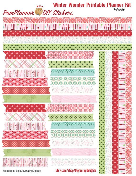 Winter Wonder Printable Planner Kit 3 PDFs by DigiScrapDelights