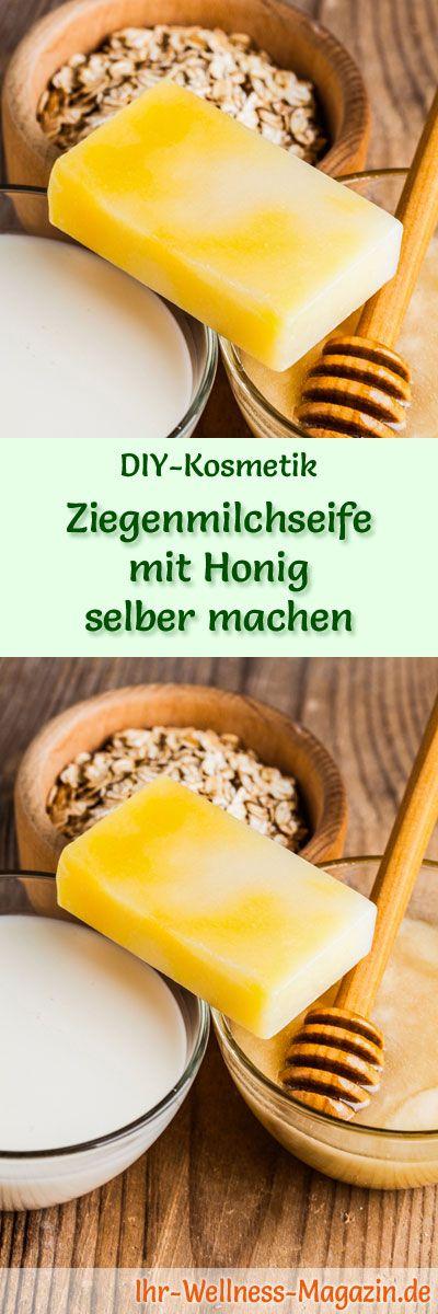 Seife herstellen - Seifen-Rezept: Ziegenmilchseife selber machen - sie pflegt und strafft die Haut und besitzt regenerierende Eigenschaften ...