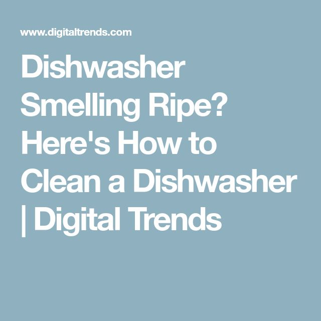 Dishwasher Smelling Ripe? Here's How to Clean a Dishwasher | Digital Trends