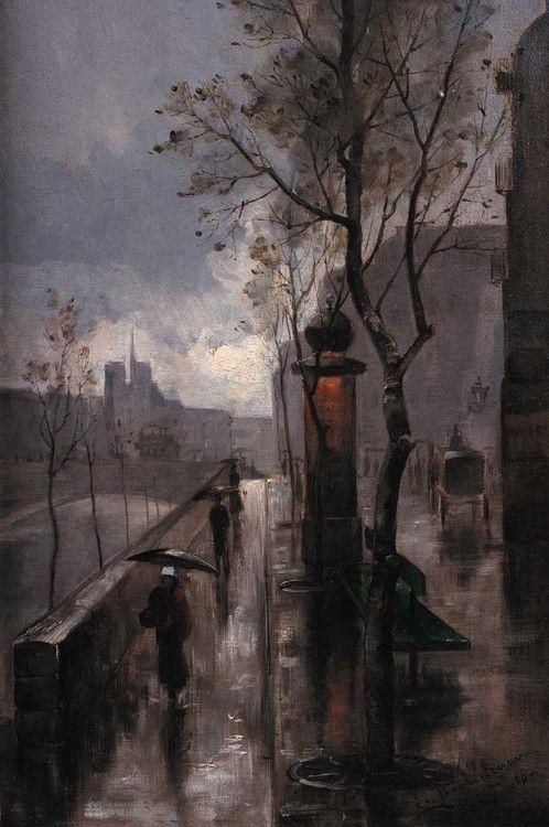 Z Parize / From Paris, 1886, Zdenka Braunerová. Czech (1858 - 1934)
