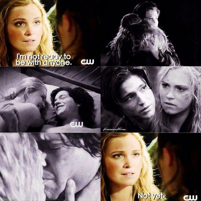 "#The100 2x14 ""Bodyguard of Lies"" - Clarke after Lexa kissed her.  Finn forever ❤️"