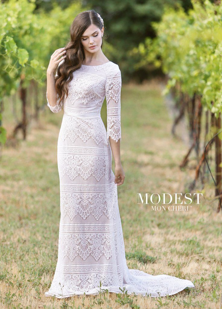 de43b0b29569 Mon Cheri TR11840 in 2019 | Tori | Modest wedding dresses, Wedding ...