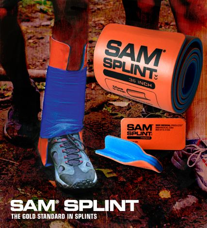 Sam Splint - rollable aluminum splint- for stabilizing broken bones - perfect emergency item for bug out bags