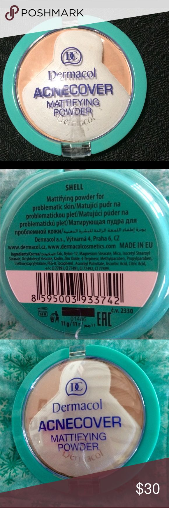 Dermacol Acne Cover Mattifying powder NEW New. Purchased in Paris. This is the most amazing pressed powder. Perfect for acne prone skin. I bought a few of these in different colors and this one will be too dark for me. I have an ivory skin tone and this is more of a medium color. dermacol Makeup Face Powder