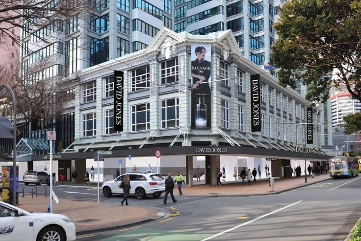 David Jones face lift of the old Kirkaldies department store.  http://architecturehdt.co.nz