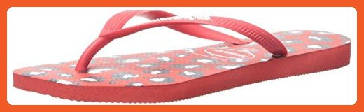 Havaianas Women's Slim Animals Aus Flip Flop, Ruby Red, 37 BR/7-8 M US - Sandals for women (*Amazon Partner-Link)