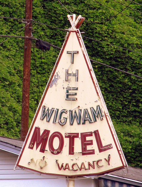 Wigwam Motel.... (in Cherokee, NC) I remember this from our trip years ago. Did not stay here, but I believe we have a picture of it.
