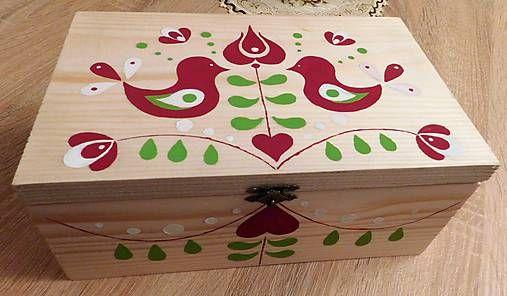 RebekaP / Krabica ľudová - vtáčiky