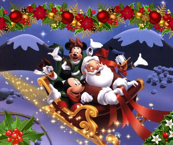 Christmas - Disney - Mickey & Minnie Mouse & Donald Duck
