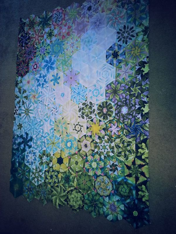 "Absolutely gorgeous ""Stack and Whack"" quilt.  Just wow!"
