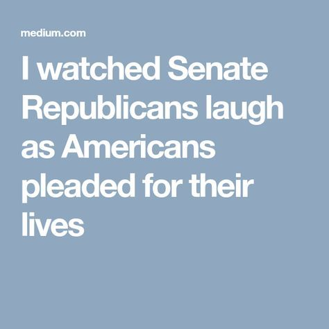 Republikkkans laugh at cutting Medical Coverage for Cancer Patients!