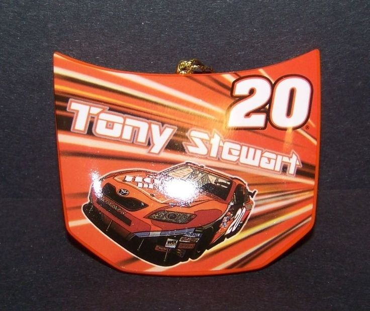 Tony Stewart # 20 Collectible Christmas Ornament Home Depot Nascar Hood Holiday #Trevco #Nascar
