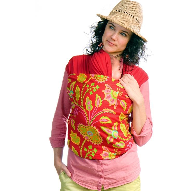 Liliputi® Strechy Wrap - Rainbow line - Floral Garden Babywearing & More! #liliputi #babycarrier #babywearing #wrap