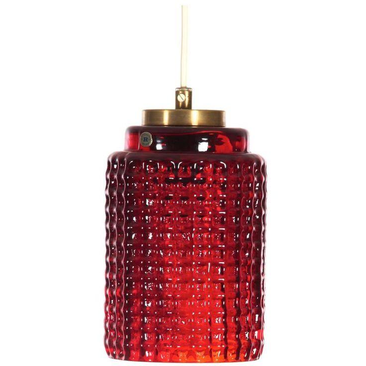 Mid-Century Modern Pendant Lamp by Reijmyre Glasbruk 1