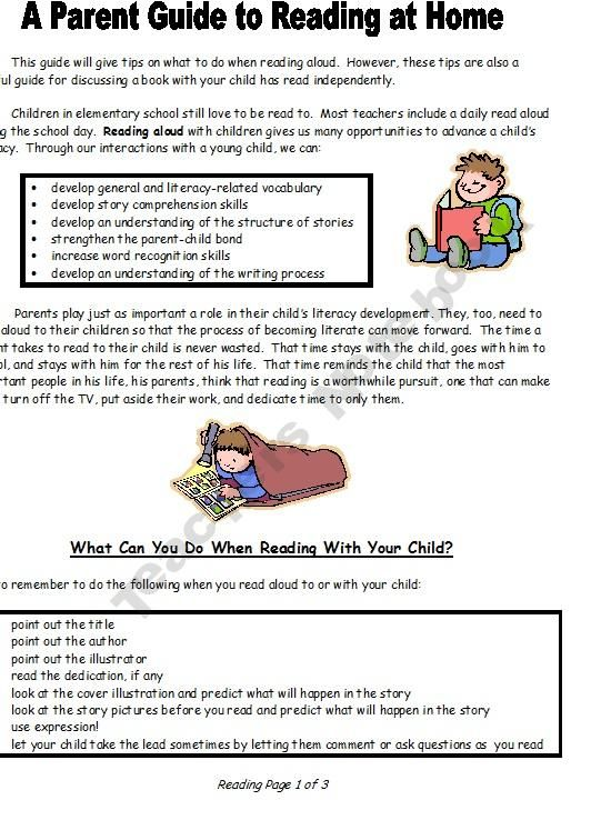 Love this guide for parents for reading aloud at home.