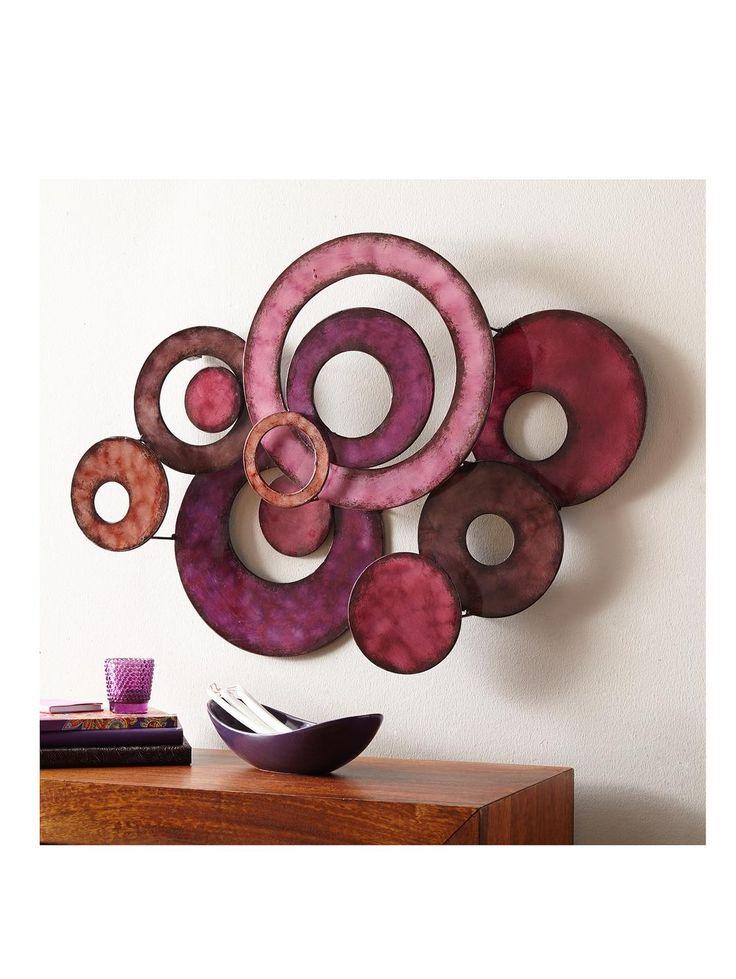 Aubergine Circles Metal Wall Art | very.co.uk