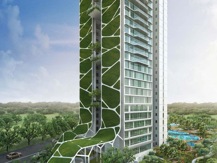 Tree House Condominium overlooking Bukit Timah reserve in Singapore by ADDP Architects
