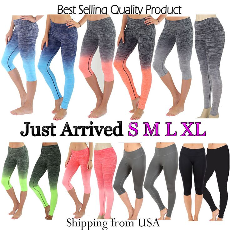 1000  images about Capri Running Yoga Sport Pants High Waist Tight ...