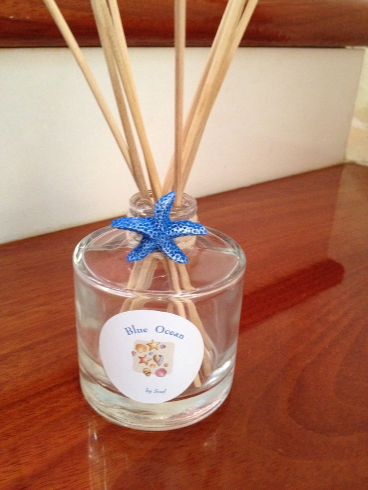 Summer Blue ocean reed diffuser.  By Soel