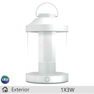 Lampa LED portabila Philips Abelia alb 1x3W http://www.etbm.ro/iluminat-decorativ-exterior