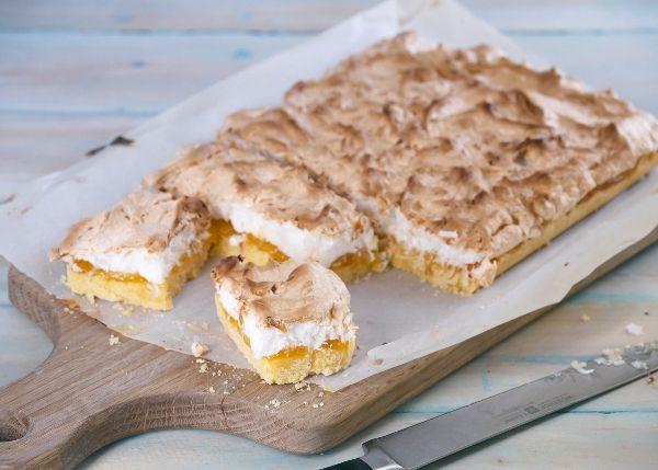 Lemon Coconut Meringue Slice is so delicious! At #foodloversnz