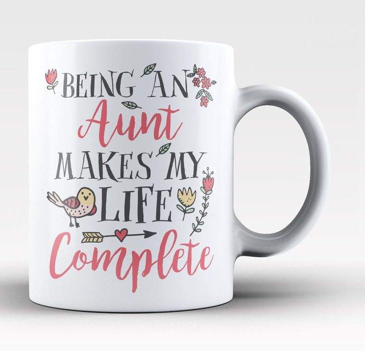 Being an Aunt Makes My Life Complete. If your niece or nephew complete your life then this mug is for you! Available here - https://diversethreads.com/products/being-a-aunt-makes-my-life-complete-mug