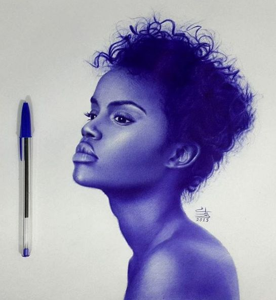 ballpoint pen art black - photo #40