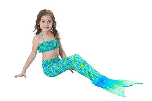 GALLDEALS Mermaid Tail for Swimming Kids Girls Womens Adults Swimsuit Swimwear