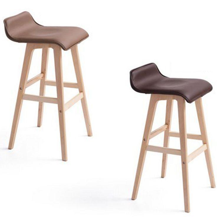 Hot, 100% Pasek krzesło drewno, tkaniny z czystej bawełny, styl duszpasterski bar krzesło, styl wolny, Stwardnienie wybór kolorów, Drewna meble Barowe
