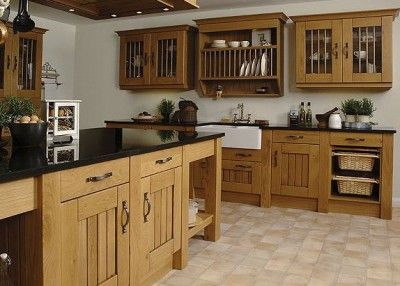 Oak cabinets change to dark hardware tile dark for Farm style kitchen handles