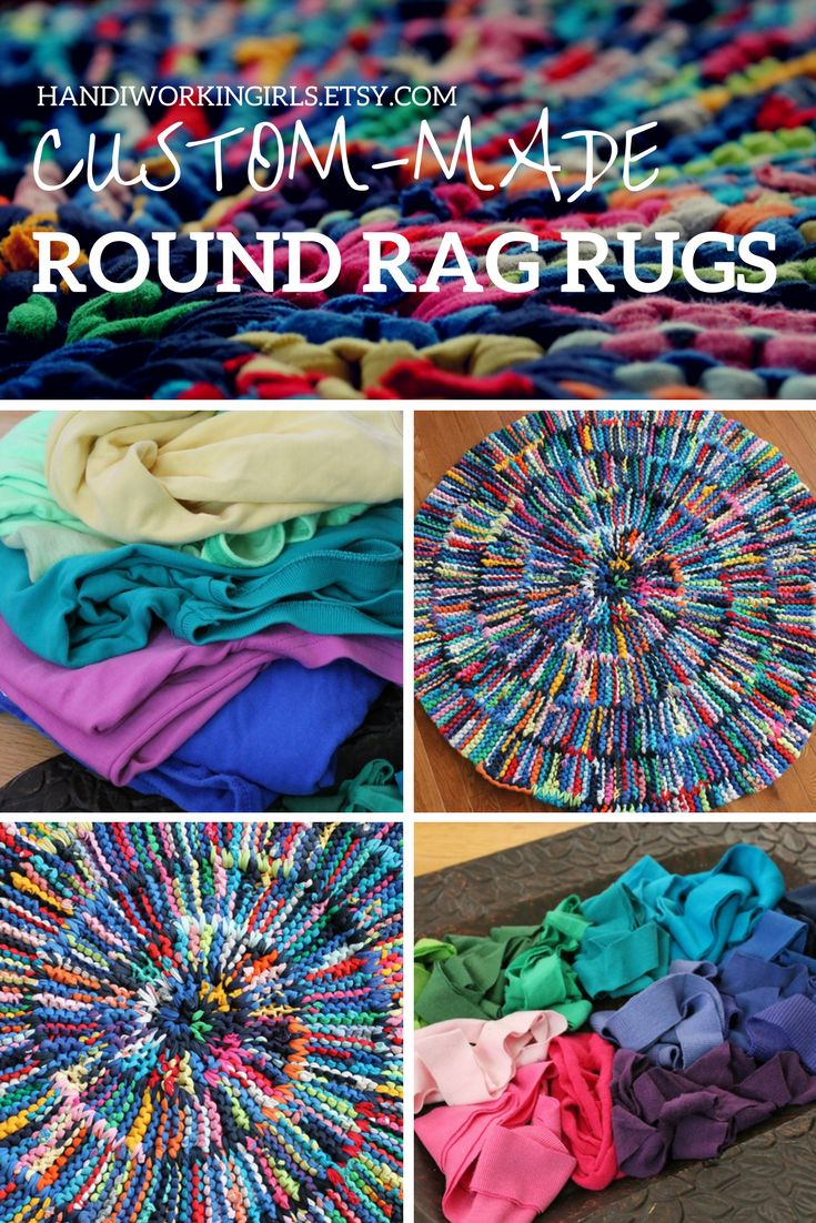 Our custom-knitted rag rugs can be designed as round or rectangular for almost any room: https://www.etsy.com/shop/HandiworkinGirls?ref=section_id§ion_id=8132650
