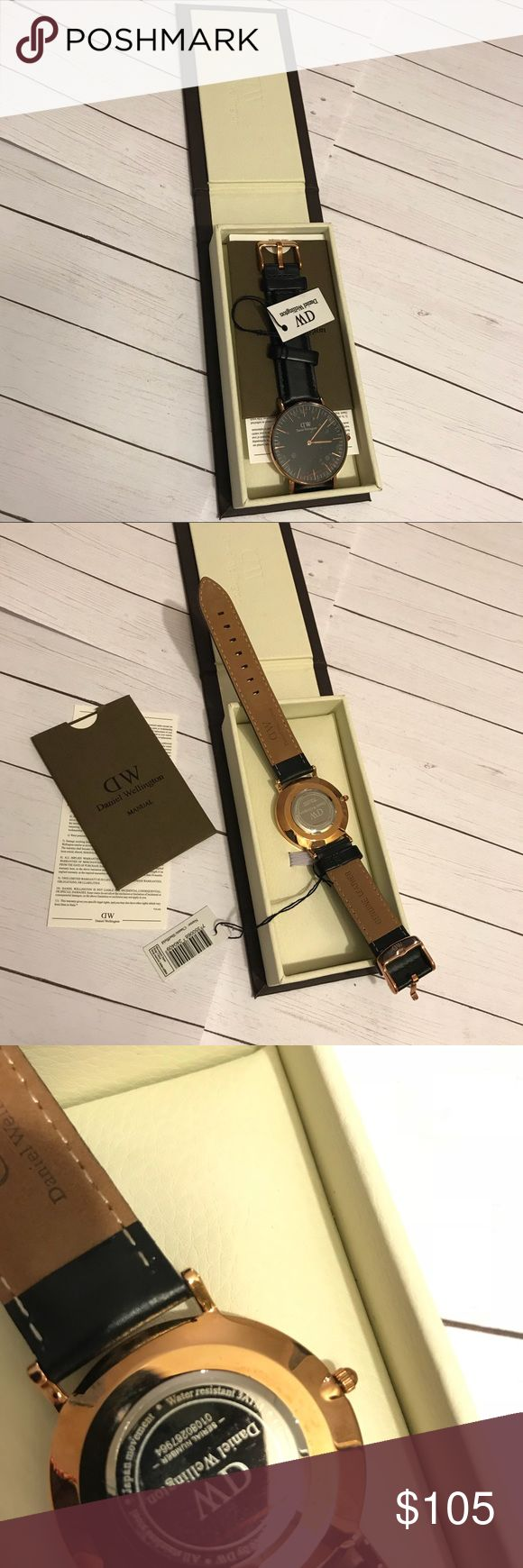 Danielle Wellington Classic Sheffield watch It's size 36mm Brand new Never been used Seal hasn't been removed yet Black and rose gold Daniel Wellington Accessories Watches