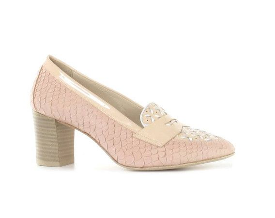 Pertini mocassins roze - Schoenen Moernaut