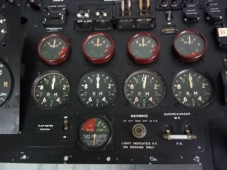 Avro Lancaster Cockpit Control Panel Pathfinder
