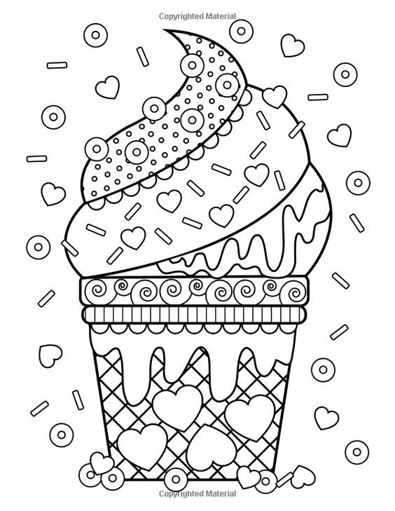 Pin By Sara Mazorra On Yummy Recipes Desserts Food Coloring Pages Coloring Books Cute Coloring Pages