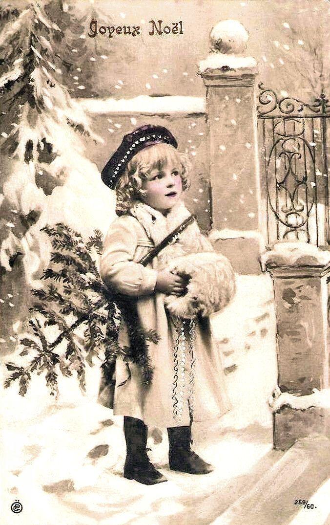 "Vintage Postcard - ""Joyeux Noel"" http://www.pinterest.com/pin/511721576385167111/"
