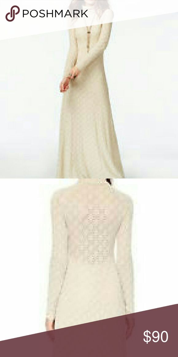Free people white river maxi dress A covered up silhouette lens romantic Victorian Vibes to a maxi dress made of knit floral lace that semi sheer at the front bodice, sleeves and back to reveal intriguing hints of skin. The flowy skirts ways elegantly as you walk, furthering the Vintage feel, turtleneck, long-sleeved, Hidden Side zip closure, partially lined fiber content is 60% cotton 37% nylon 3% spandex, dry clean or machine wash cold fits true to size color is Almond. Free People Dresses…