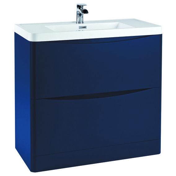 Vasari Bella Indigo Blue Floor Standing Drawer Vanity Unit Basin