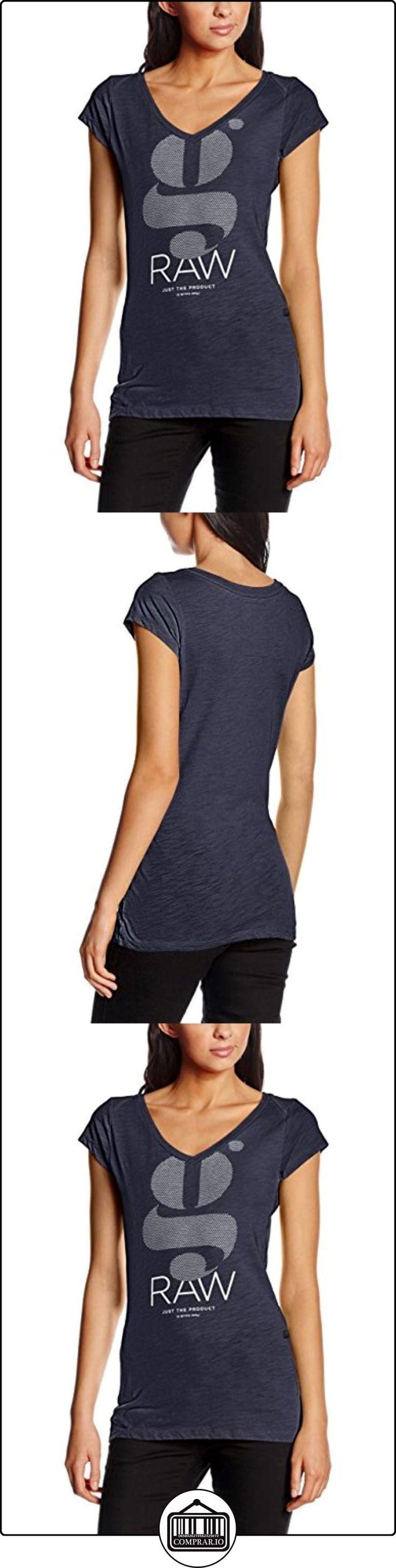 G-Star Raw, Loreen v t wmn cap sl - Camiseta de manga corta para mujer, Azul (Sartho Blue 6067), Small  ✿ Blusas y camisas ✿