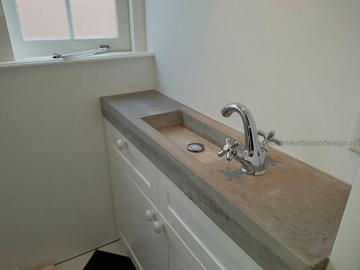 Wasbak Badkamer Afmeting : Betonnen wasbak badkamer. perfect saniselect guarda meubelset lades