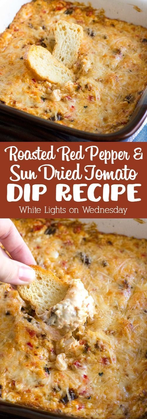 You'll never need another dip recipe once you try this crazy good Roasted Red Pepper & Sun Dried Tomato Dip!