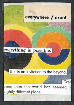 """everywhere / exact.""  Word Scramble playing card collage series, September 2017."