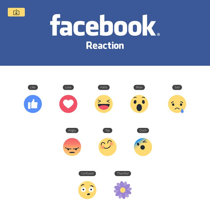 Facebook Like Button Empathetic Emoji Reactions