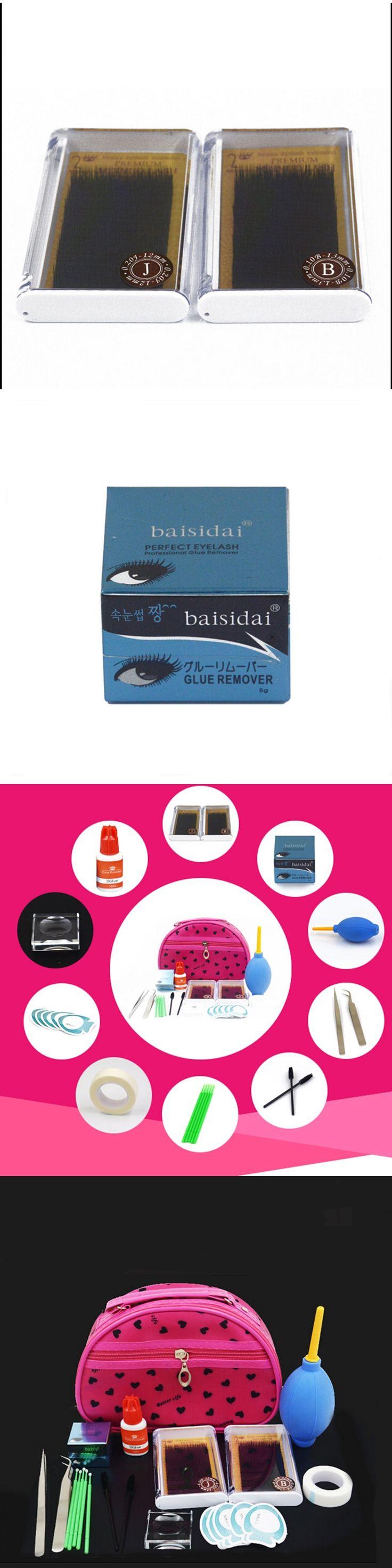 Eyelashes Extension Kit Set with Glue Fashionable Eyelashes Extension with bag free shipping